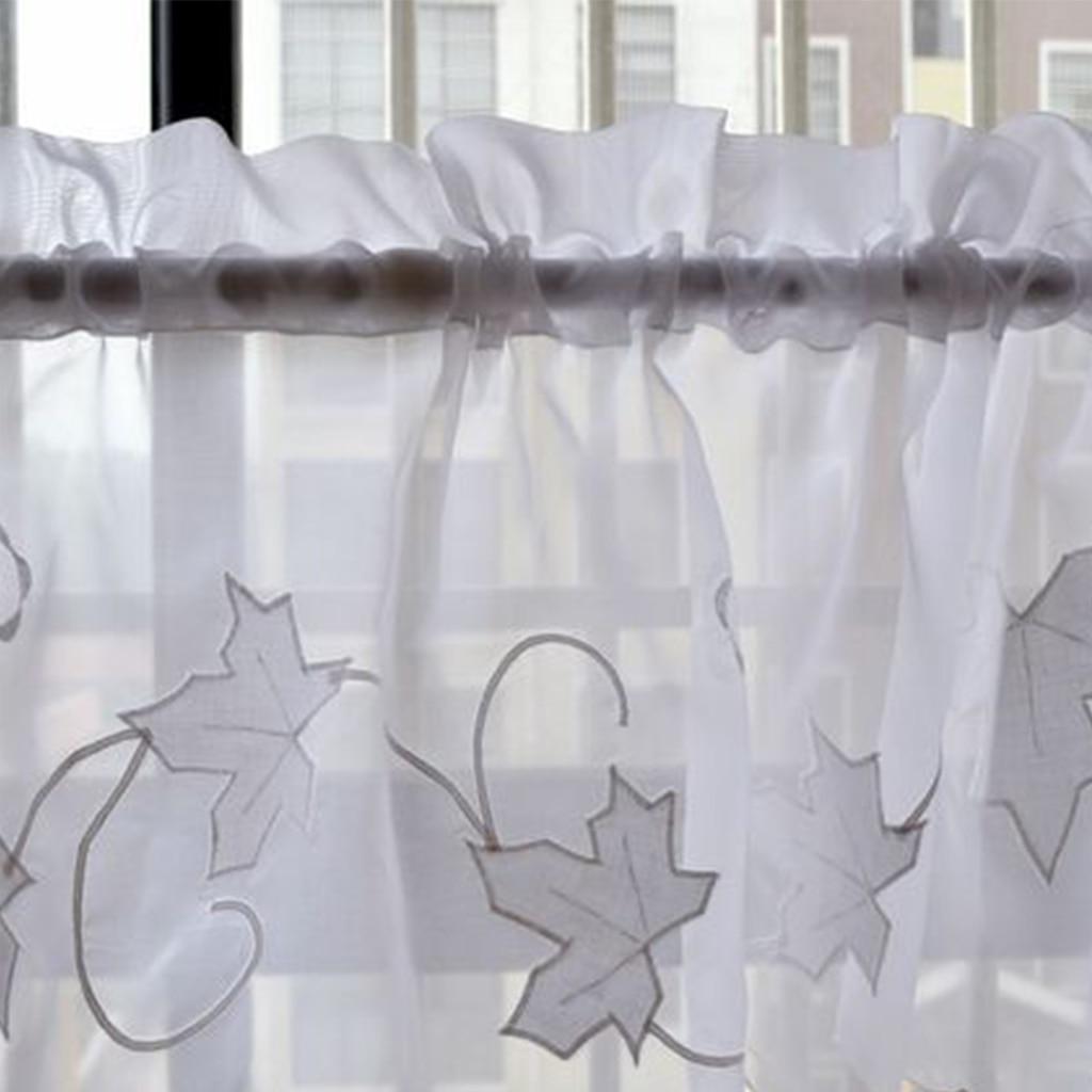 Half Curtain Window Valance Rustic Roman Curtain Style Kitchen Cafe Short Panel Curtain 2Pcs/Lot Rod Pocket Type Home Decor