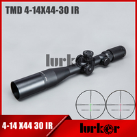 HLURKER Tactical TMD 4 14X44 IR First Focal Plane FFP Optical Rifle Scope Side Parallax Riflescope Optics Riflescopes Hunting