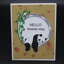 Panda greetings Metal Cutting Dies Scrapbooking Embossing DIY Decorative Cards Cut Stencils