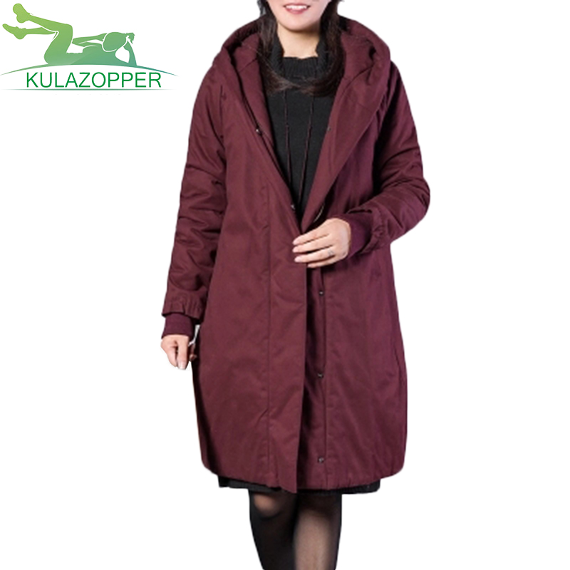 Winter new women loose hooded thick coat long paragraph down cotton outwear fat female big size  cotton warm jacket parka LX190 koochi коляска трость sneaker