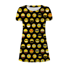 eae0edeb3f Customized Wholesale Women Dress Kawaii Funky Emoji Smile Sexy Maxi Dresses  For Girl Summer Beach Short