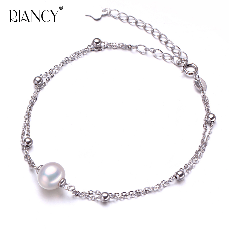 Small fresh summer pearl bracelet women natural freshwater Circular for