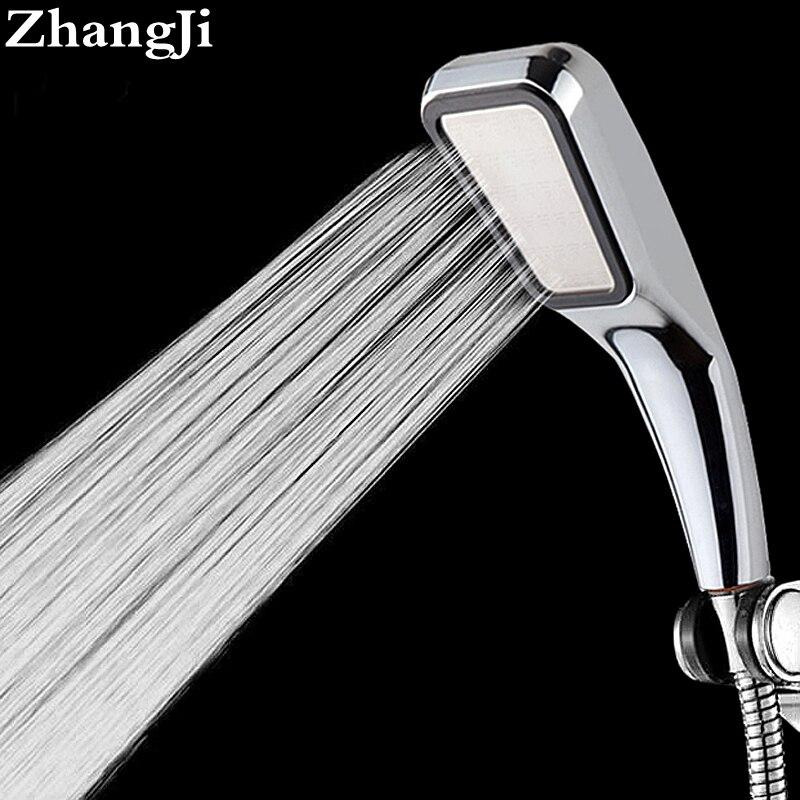 Качество Ванная комната осадков 300 отверстие Насадки для душа экономии воды поток с Chrome ABS Дождь Насадки для душа Высокое Давление Boost ZJ001