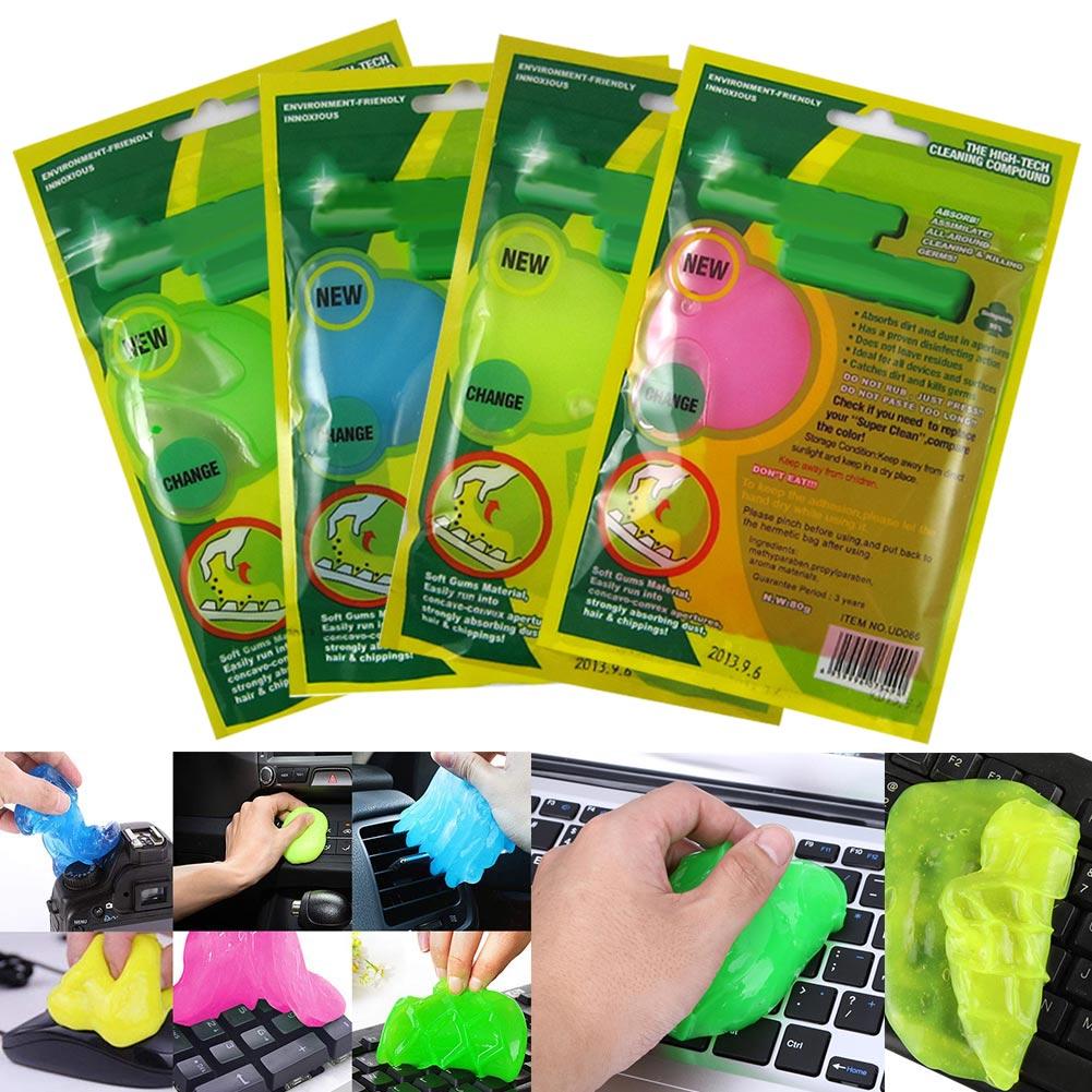 10 Piezas Gel De Limpieza De Polvo Goma De Limpieza Mágica Limpiador Adhesivo Super Suave Para Teclado Teléfono Coche Estilo