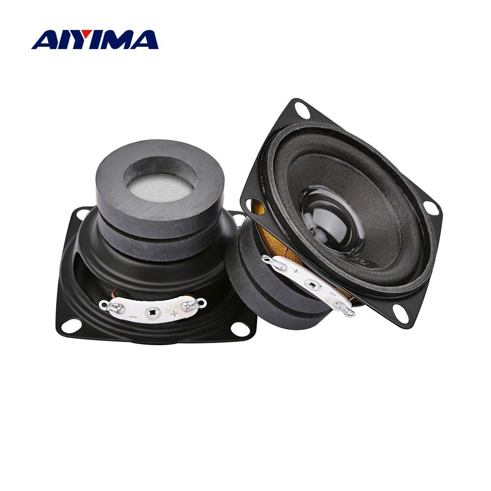 AIYIMA 2Pcs 2Inch Mini Audio Portable Speakers Full Range Sound Speaker 4 8 Ohm 10W Loudspeaker DIY Home Theater Sound System