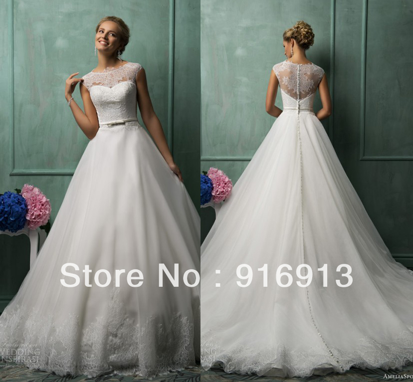 Aliexpress.com : Buy AmeliaSposa 2014 Collection Wedding Dresses ...