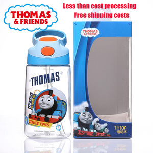 Thomas baby children's water cup children's sports cup sports bottle portable one-button switch 400ML environmental protection
