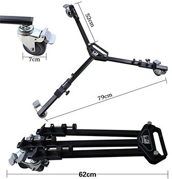 DHL WT-600 Tripod Dolly for Video Tripod Max Load 10kg Video Folding Wheels Heavy Duty Slider Tripod Dolly for Camera Stand