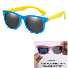 цена на Childs Sun Glasses Polarized Glasses For Children Kids Oval Flexible Silicone Girls Boys Safety Anti-glare Sun Glasses UV400