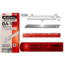 ญี่ปุ่นอะไหล่ใบมีด BA 100 ศิลปะขนาดเล็กใบมีด 9 มม.58 องศา 50 ใบมีด/แพ็คสำหรับ D 400 D 1000 C 400 c 1500