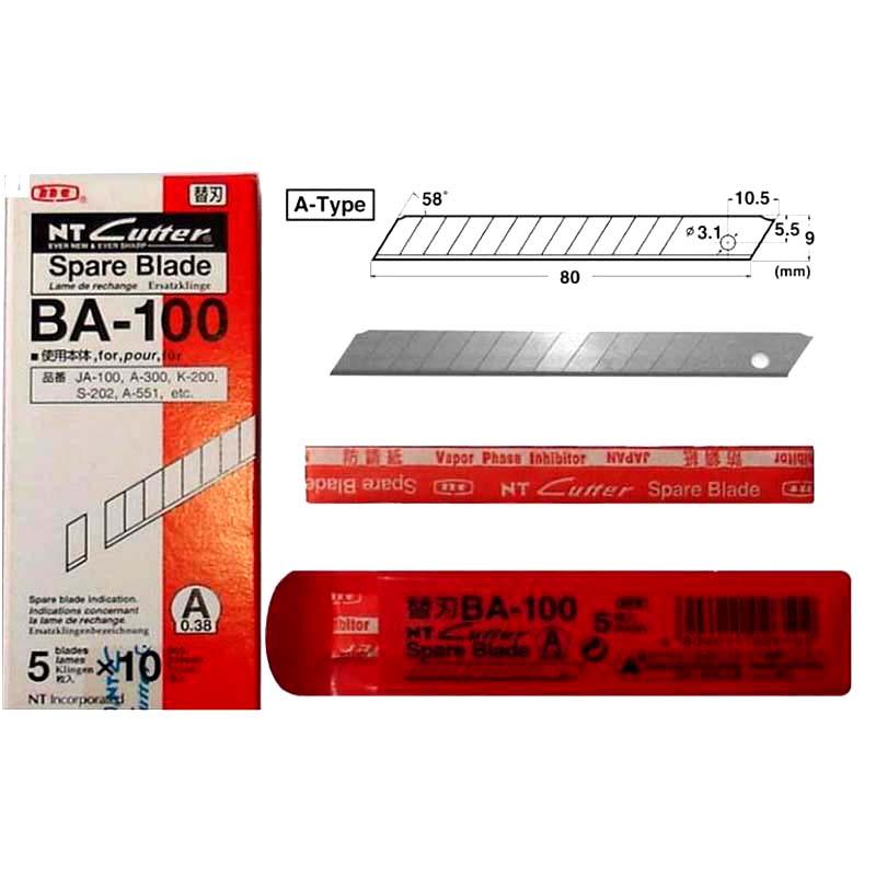japao substituicao de reposicao lamina ba 100 pequena arte lamina 9mm 58 graus 50 lamina pacote