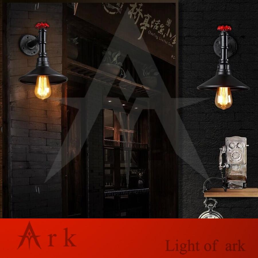 ark light Vintage Industrial Water Pipe Wall Lamps Loft Wall Light Bar Restaurant Wall Fixtures110V/220V Bedside Lighting X0025