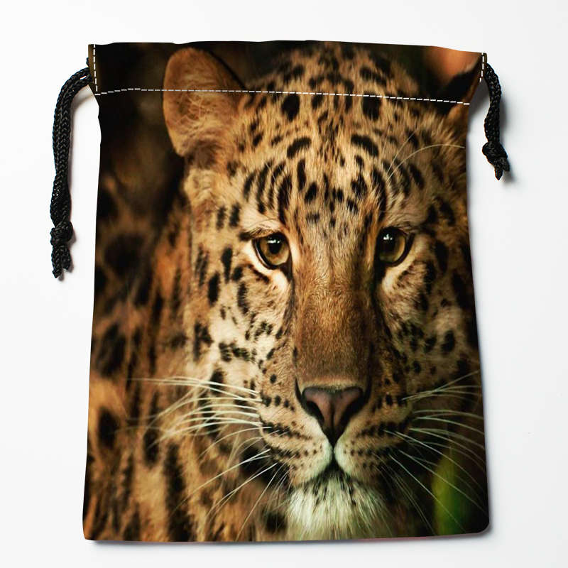 New Arrival Beautiful Leopard Drawstring Bags Custom Storage Printed  Receive Bag Type Bags Storage Bags Size 18X22cm