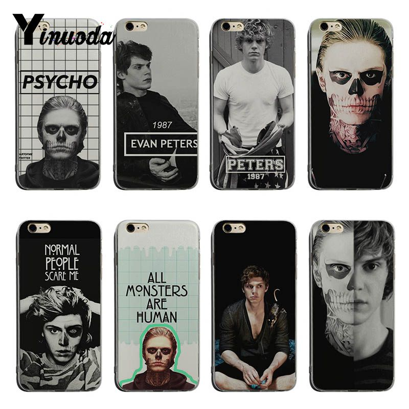 Yinuoda Evan Peters Hot Printed Cool Phone Accessories Case For iPhone X XS XR XsMax 8plus 6 6s 7 7plus Mobilecover