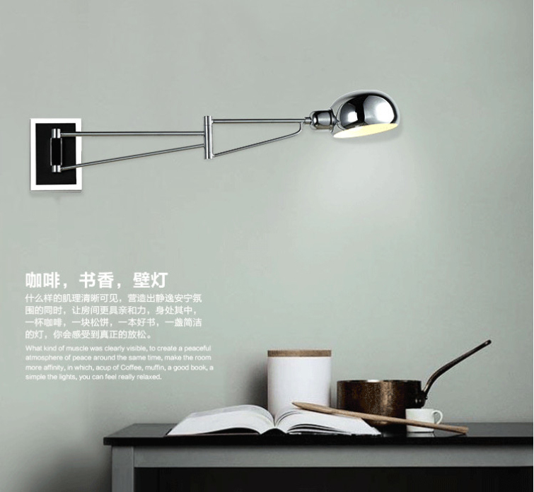 Led Wall Lighting Extend Swing Arm Lamps Modern Sconce Indoor Mirror Lights In From On Aliexpress