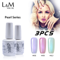 3 Pcs Lot Kit IDO Pear Series Gel China Factory Brand Polish Nail Art  Shinning Colorful Fashion Glitter Shells Gelpolish 15 ML