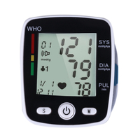 Portable Household Digital Blood Wrist Pressure Health Care USB Rechargeable Upper Arm Wrist LCD Pulse Monitor