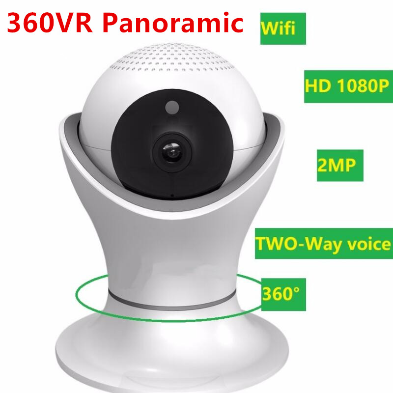2 Million Pixel Wireless Security Monitor Digital Camera HD IP Camera Cup Shape 360VR Panoramic Shake Head Machine