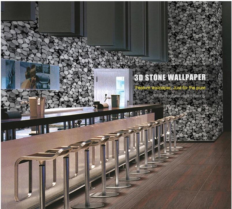 diseo de interiores de ladrillo decorativo papel pintado de la pared de piedra natural