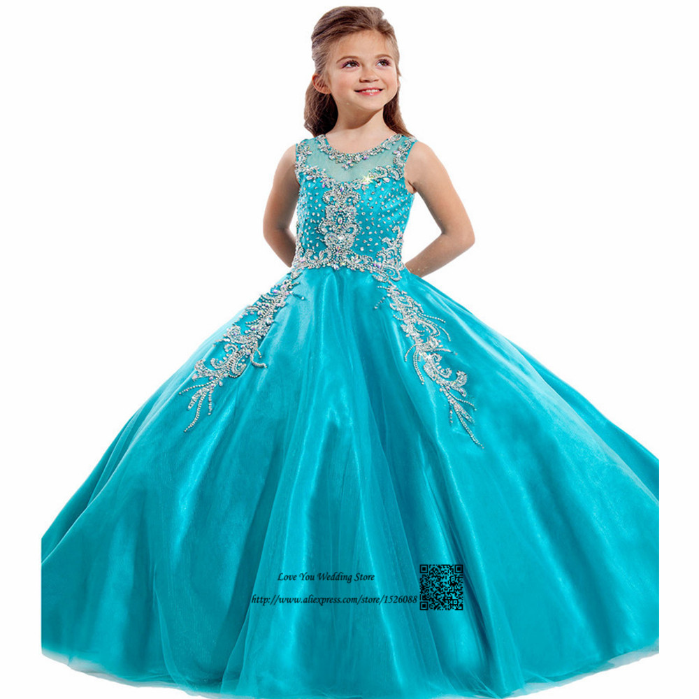 Cute Orange Turquoise First Communion Dresses for Girls Ball Gowns ...