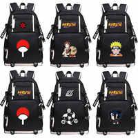 Anime Uzumaki Naruto Sasuke Sharingan USB Lade Computer Junge Mädchen Schule tasche Frauen Bagpack Jugendliche Leinwand Männer Rucksack