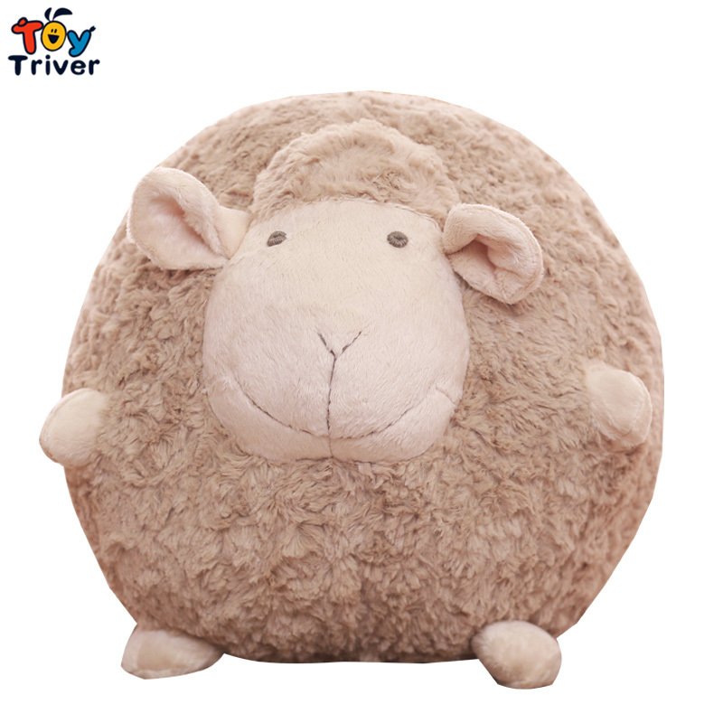 Cute Soft Plush Fat Sheep Ball Toy Stuffed Lamb Sleeping Sheep Doll Pillow Cushion Baby Kids Friend Girl Birthday Gift Triver чайник bekker koch со свистком 3 л bk s482
