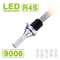 1 Set 9006 HB4 90W 10400LM R4S LED Headlight Super Slim Conversion Kit Fanless Driving Fog