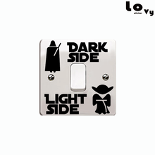 Classic Movie Star Wars Dark Side Light Side Switch Sticker Cartoon Vinyl Wall Sticker for Kids