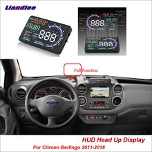 купить Liandlee Car Head Up Display HUD For Citroen Berlingo 2011-2018 Safe Driving Screen OBD II Speedometer Projector Windshield дешево