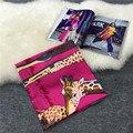 Praça da moda H África Animal Lenço de Algodão Protetor Solar Inverno Bufandas Foulard Mulheres Xales E Hijabs Wraps 130*130 cm