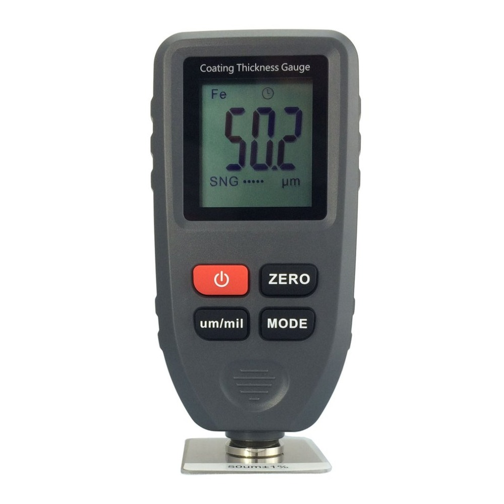 все цены на TC100 Digital Thickness Gauge Coating Meter Car Thickness Meter Thickness Tester Measuring Range 0~1300um Backlight онлайн