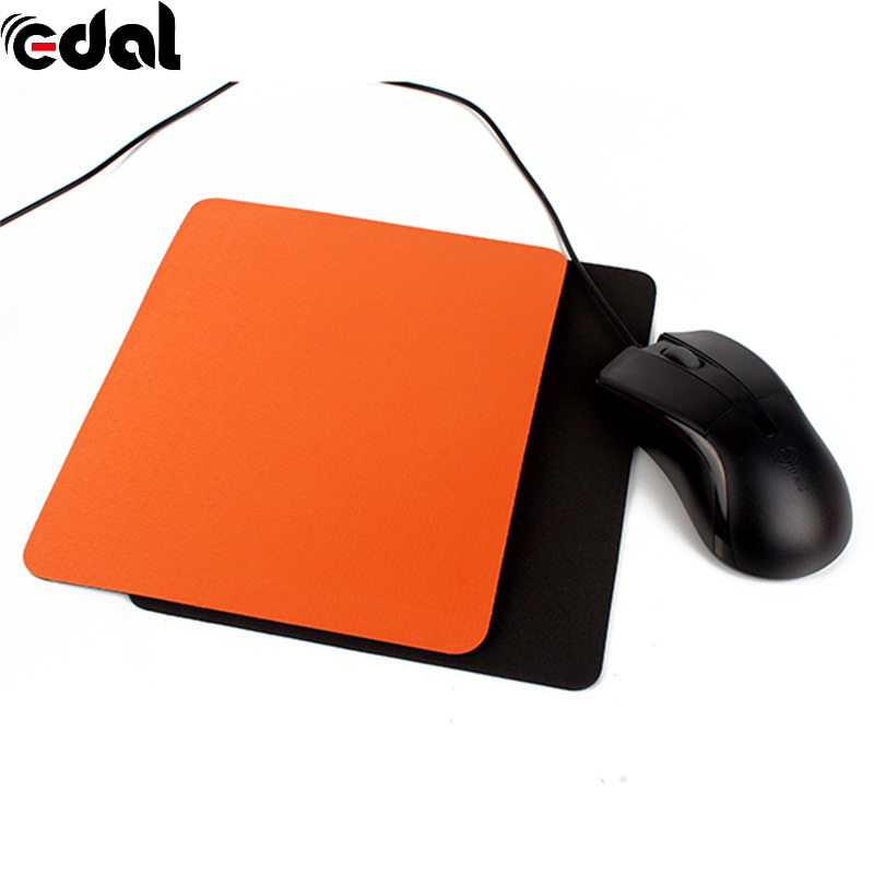 215*175*3mm Unique Durable Mouse Pad Mat Useful Mice Pad For Optical / Trackball Mouse Mat Black/Orange