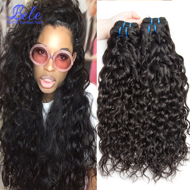Peruvian Wet And Wavy Human Hair 3pcs Natural Black Color Peruvain