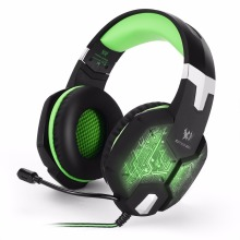 KOTION EACH G1000 Game Headset Deep Bass Permainan headphone Komputer Stereo Permainan headphone LED cahaya dengan mikrofon untuk PC Gam