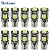 Safego 10 stücke LED W5W T10 194 168 Canbus 5050 Auto Glühbirnen 5 SMD Fehler Freies Keil Birne Innen lampe Motorrad Weiß 6000K