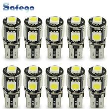 Safego 10pcs LED W5W T10 194 168 Canbus 5050 מכונית אור נורות 5 SMD שגיאת משלוח טריז הנורה פנים מנורת אופנוע לבן 6000K