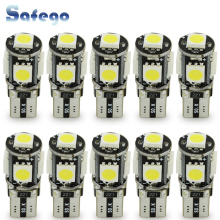 цена на 10pcs LED W5W T10 canbus 5050 5 smd led  T10 194 168  5smd T10 led canbus 5050 error free white light lamp bulb