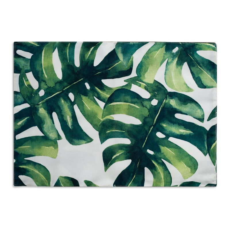 32x45cm Plant Green Leaf Cotton Placemat Dining Table Pad Coaster Kitchen Insulation Tool