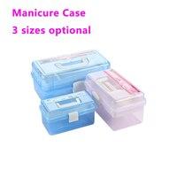Multi Utility Storage Case 3 Layer Professional Nail Art Box Manicure Kit Nail Tool Makeup Box