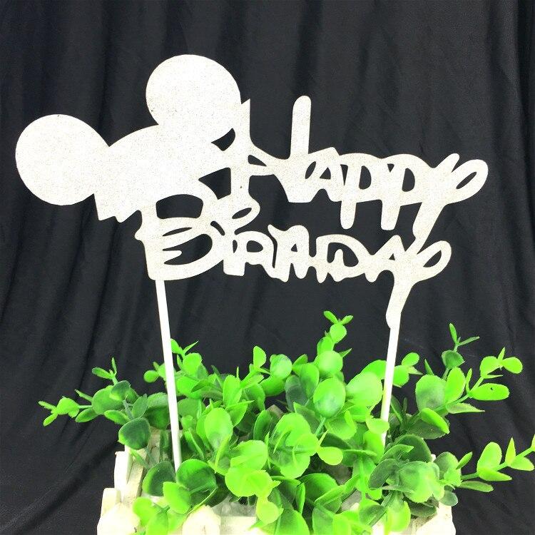 1pc Alles Gute zum Geburtstag Cake Topper Multi Farben Kuchen Flagge - Partyartikel und Dekoration - Foto 6