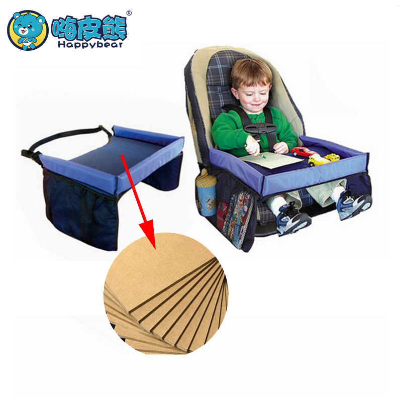 Baby Car Seat Tray Stroller Holder Food Desk Children Portable Table For Car New Child Table Storage Kids Toy 40*32cm Happybear