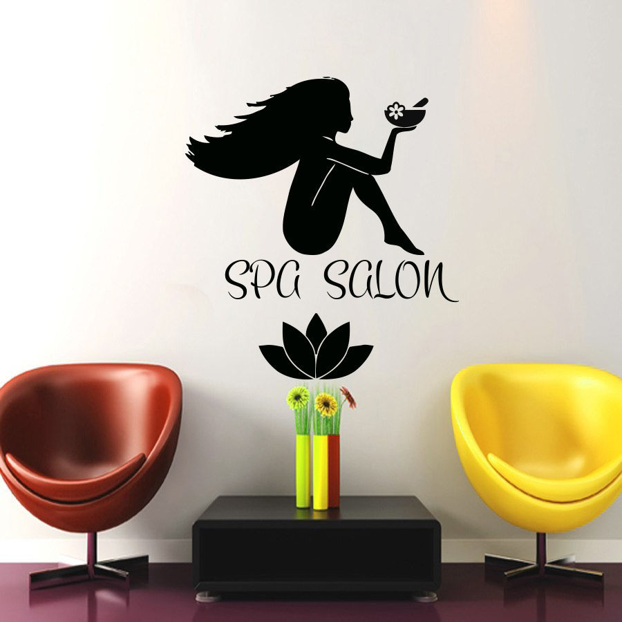Beauty Salon Vinyl Wall Decal y Girl Fashion and Spa Salon