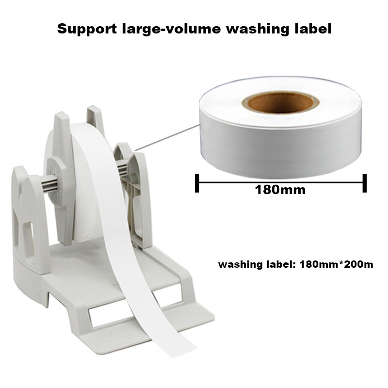 Image 4 - Thermal transfer label printer washing label printing solution with paper holder ribbon and silk clothes label easy for printinglabel printerthermal transfer label printerlabel printer thermal -