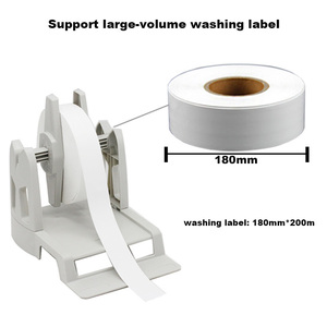 Image 4 - Thermal transfer label printer washing label printing solution with paper holder ribbon and silk clothes label easy for printing