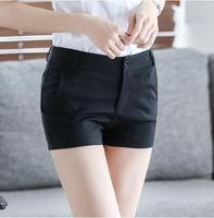 2018 Summer New Candy Color Shorts Casual Slim Thin White Cotton Women