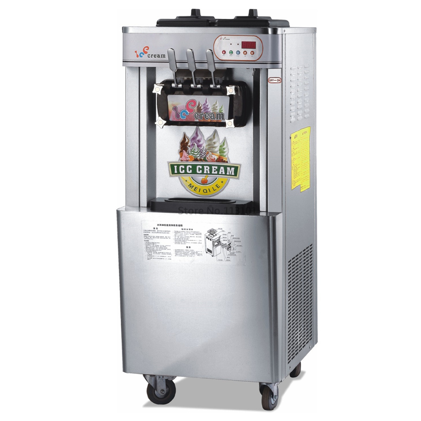цены  Stainless Steel Soft Ice Cream Machine Big Capacity CE Approval Quality Commercial Use