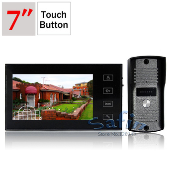 DP-766 7inch video door phone intercom system 700tvl outdoor unit camera touch button monitor
