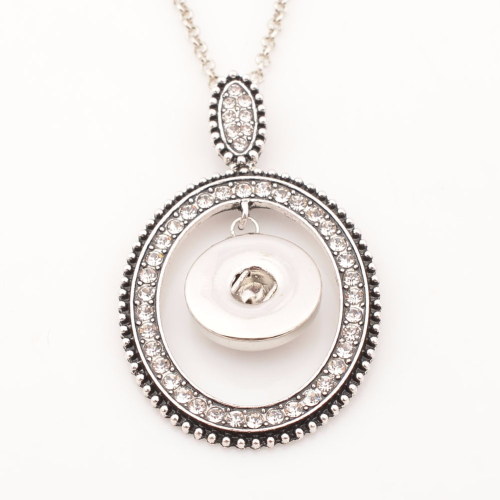 New arrive snap button necklace, antique bracelet fit 18mm DIY snap button jewelry with 50cm chain ND5257