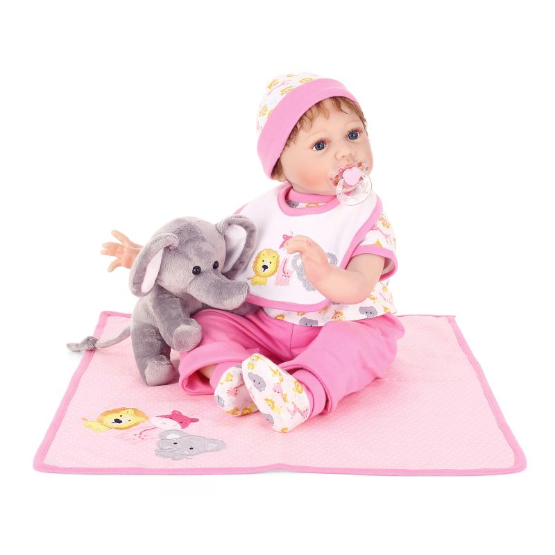 lifelike baby doll 55cm silicone reborn baby doll toys vinyl 22inches bebe Handmade Alive Girl Babies Toy Christmas Gift for kid 14inch plush doll toys for children silicone reborn alive babies lifelike kids toys sleep reborn doll for children kid toy