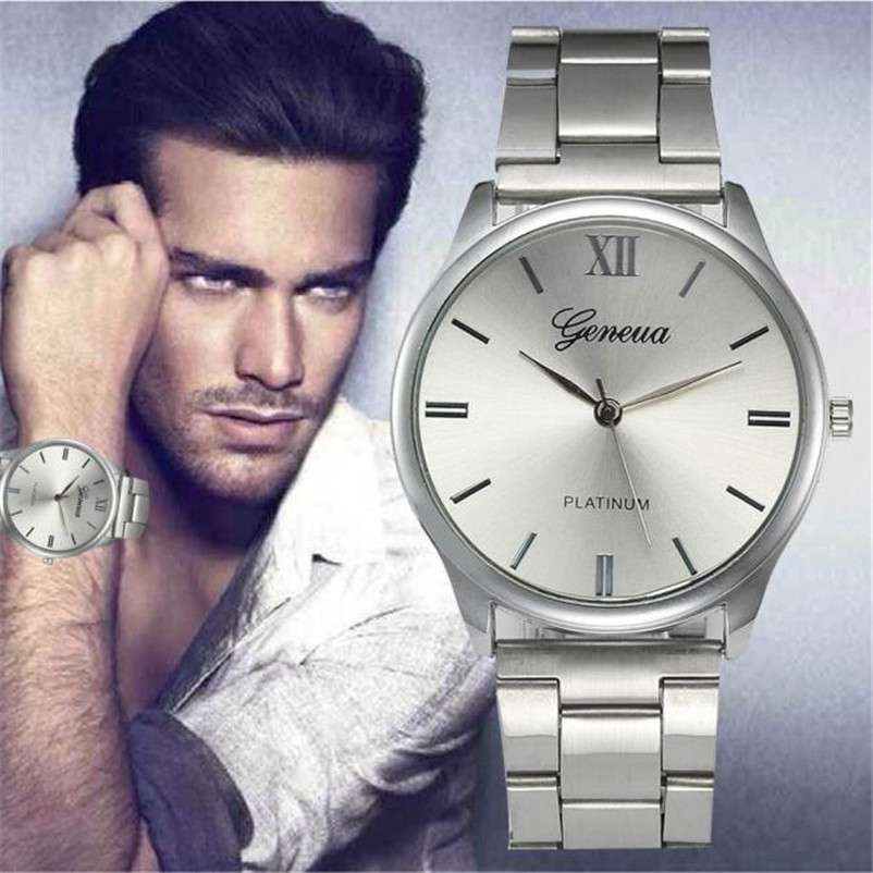 Watches Men Reloj Hombre Fashion Luxury Quartz Wristwatches 2018 Stainless Steel Bracelet Casual Watch relogio masculino trendy movie silent night jack skull keyring